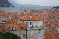 Red tiles roofs in old town of Dubrovnik Stock Photography