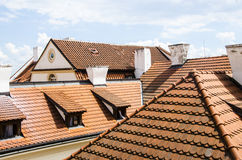 Red tiles roofs. In old town, very typical all over Europe Stock Photography