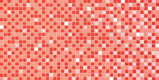 Red tiles texture, seamless Royalty Free Stock Photos