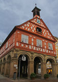 Red Timber Framed Building in Esslingen, Germany Royalty Free Stock Image