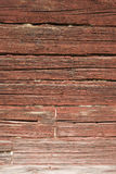 Red timber wall Halsingland Sweden Stock Photos