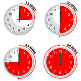 Red timer royalty free illustration
