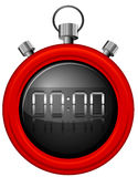 A red timer. Illustration of a red timer on a white background Stock Images