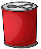 Red tin Royalty Free Stock Image