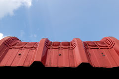Red tin roof Royalty Free Stock Image