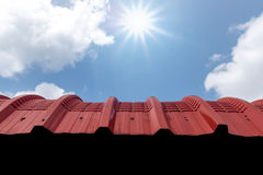 Red tin roof Stock Photography