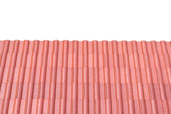 Red tin roof Royalty Free Stock Photography