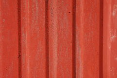 Red tin siding Stock Images