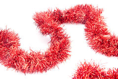 Red tinsel Stock Photography