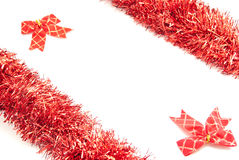 Red tinsel Stock Image