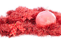 Red tinsel Royalty Free Stock Photo
