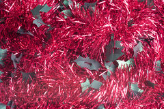 Red Tinsel Background Royalty Free Stock Images