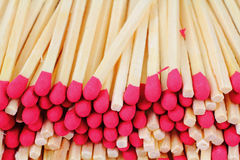 Red Tipped Wooden Matches Close View Royalty Free Stock Images
