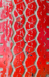 Red tire textured Stock Photography