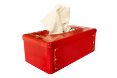 Red tissue box Stock Photo