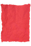 Red Tissue Paper. Creased red tissue paper over white background Stock Image