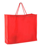 Red tissue shopping bag isolated Stock Images