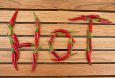 Red to chili peppers Stock Image
