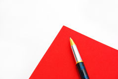 Red to do paper Stock Photos