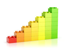 Red to green color growth diagram Royalty Free Stock Image