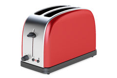 Red toaster, 3D rendering Royalty Free Stock Image