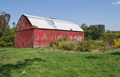 Red Tobacco Barn stock photo