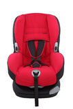 Red toddler car seat on isolated. On white background Royalty Free Stock Photography