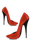 Red toes/shoes/fashion Royalty Free Stock Photo