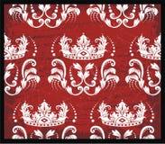 Red toile backrgound Stock Image