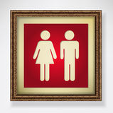 Red toilet sign Stock Images