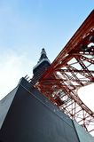 The red Tokyo Tower, Japan Royalty Free Stock Photography