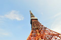 The red Tokyo Tower, Japan Royalty Free Stock Photos
