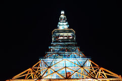The red Tokyo Tower at night, Japan Royalty Free Stock Images