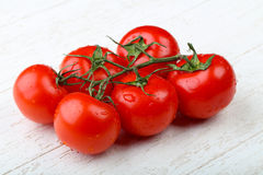 Red tomato branch Stock Photo