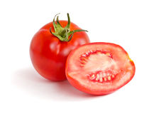Red tomato with cut Stock Photo