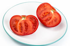 Red tomato, cut in half Royalty Free Stock Photos