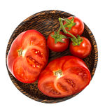 Red tomato, cut in half Stock Images