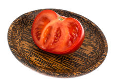 Red tomato, cut in half Royalty Free Stock Photography