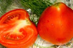 Red Tomato Cut Stock Photos