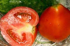 Red Tomato Cut Stock Photo