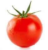 Red tomato with drops Stock Images