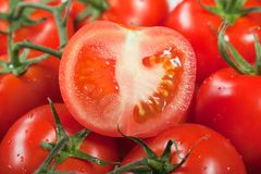 Red tomato food Stock Images