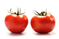 Red tomato. Fresh tomato  isolated on the white background Royalty Free Stock Image