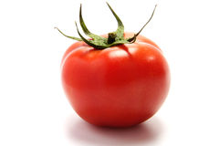 Red tomato. Fresh tomato  isolated on the white background Stock Photos