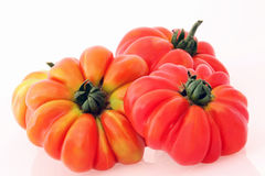 Red tomato fruit isolated on white Royalty Free Stock Image