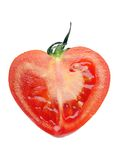 Red tomato heart Royalty Free Stock Photo