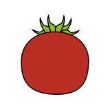 Red tomato icon image Stock Photography