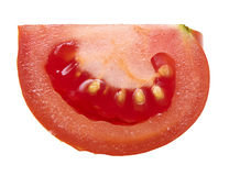 Red  tomato isolated. Royalty Free Stock Photography