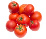 The red tomato isolated on white Royalty Free Stock Photo