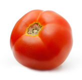 Red tomato isolated Stock Images